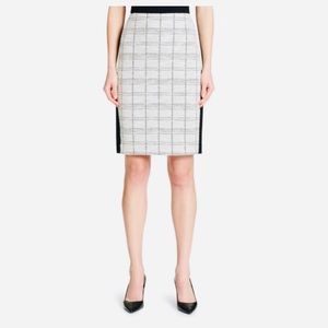 Calvin Klein Tweed Plaid Metallic Pencil Skirt NWT